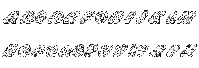 CHEESE Font LOWERCASE