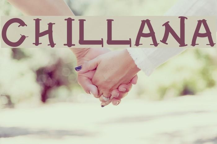 CHILLANA Font examples