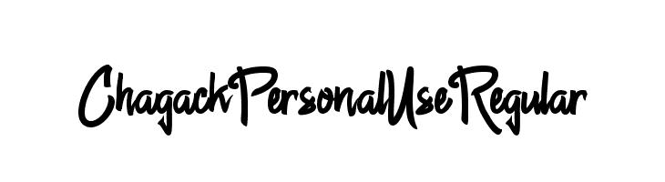 Chagack Personal Use Regular Font