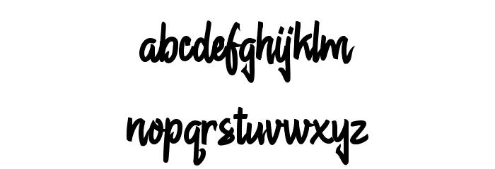 Chagack Personal Use Regular Schriftart Kleinbuchstaben