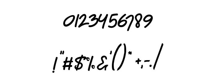 Chagack Script Personal Use Regular フォント その他の文字