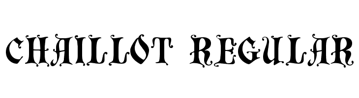 Chaillot Regular  Free Fonts Download