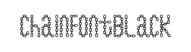 ChainFontBlack  Скачать бесплатные шрифты