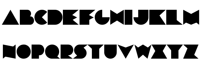ChainsawGeometric Font UPPERCASE