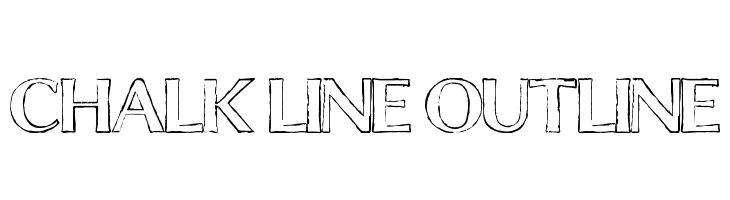 Chalk Line Outline  baixar fontes gratis