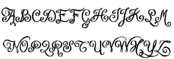 Chalk-hand-lettering-shaded DEM फ़ॉन्ट अपरकेस