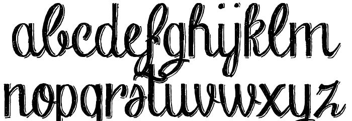 Chalk-hand-lettering-shaded DEM फ़ॉन्ट लोअरकेस