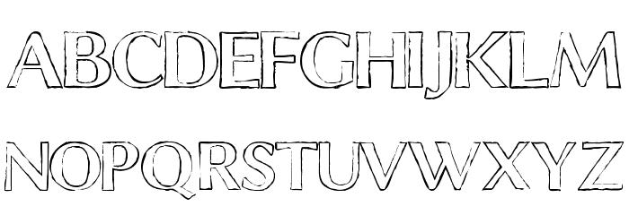 ChalkLine-Outline Font LOWERCASE