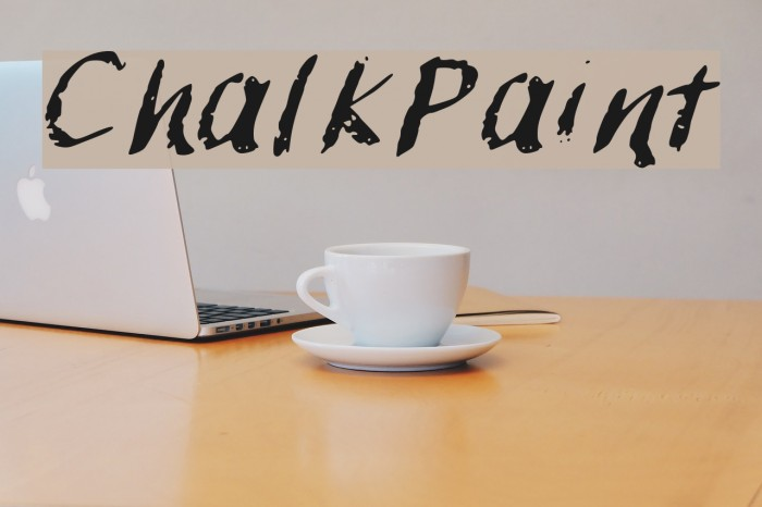 ChalkPaint फ़ॉन्ट examples