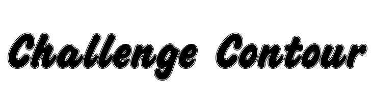 Challenge Contour  Free Fonts Download