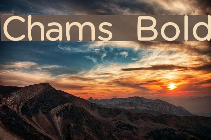 Chams  Bold फ़ॉन्ट examples