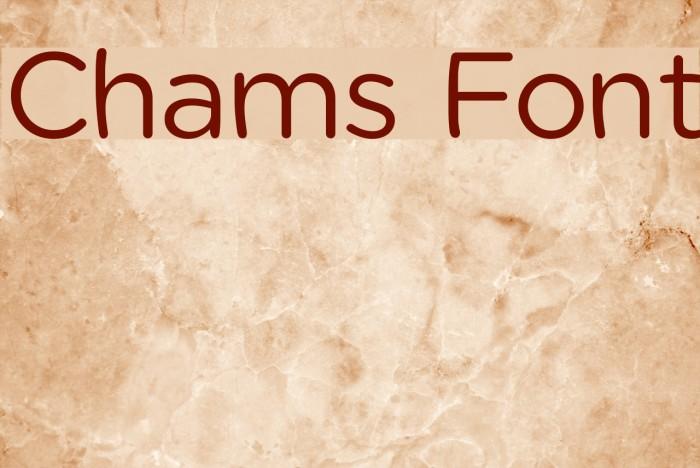 Chams फ़ॉन्ट examples
