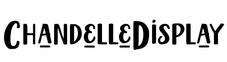 ChandelleDisplay  Скачать бесплатные шрифты