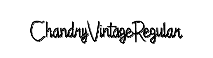 Chandry Vintage Regular  لخطوط تنزيل