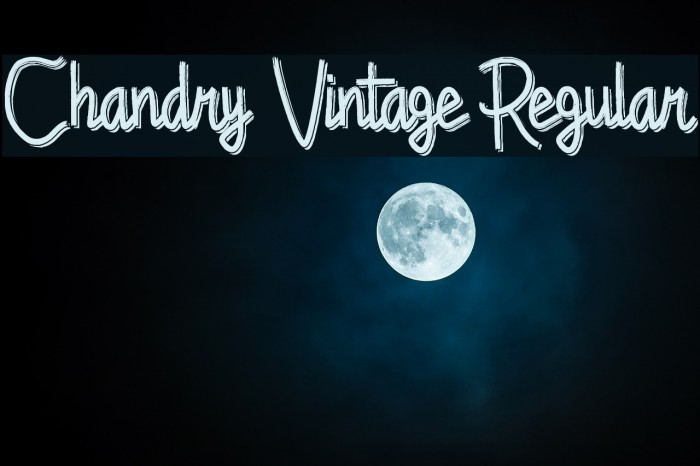Chandry Vintage Regular Fonte examples