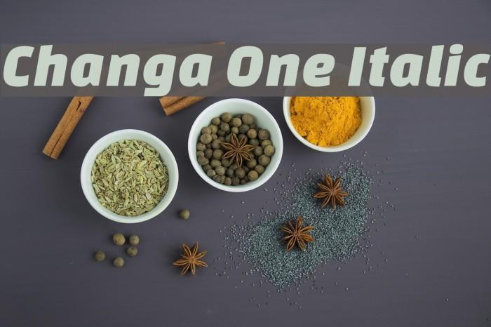 Changa One Italic 字体 examples