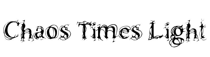 Chaos Times Light  フリーフォントのダウンロード