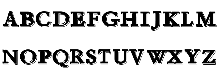 Chapou Relief Tryout Font UPPERCASE