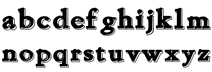 Chapou Relief Tryout Font LOWERCASE