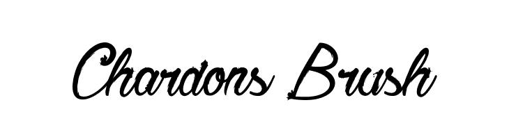 Chardons Brush  Скачать бесплатные шрифты