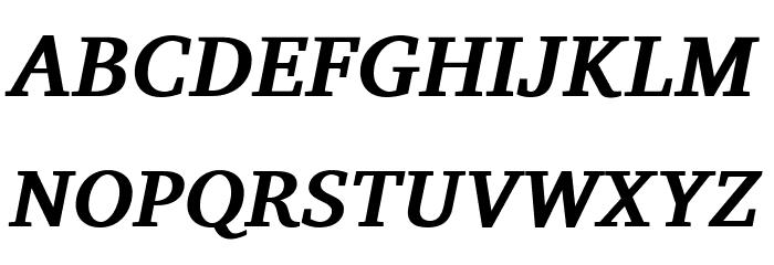 Charis SIL Bold Italic Font Litere mari