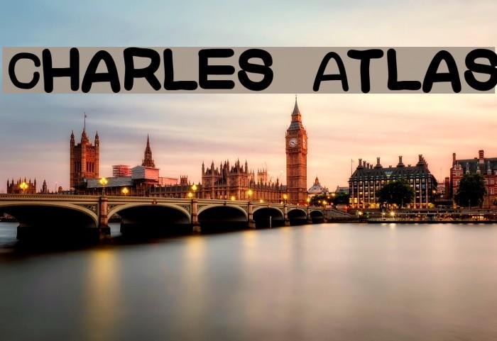 Charles Atlas Шрифта examples