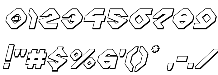 Charlie's Angles 3D Italic Fonte OUTROS PERSONAGENS