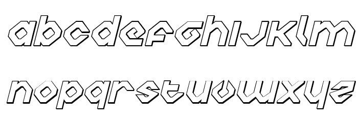 Charlie's Angles 3D Italic Fonte MINÚSCULAS