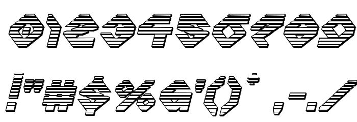 Charlie's Angles Chrome Italic Font OTHER CHARS