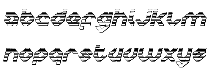 Charlie's Angles Chrome Italic フォント 大文字