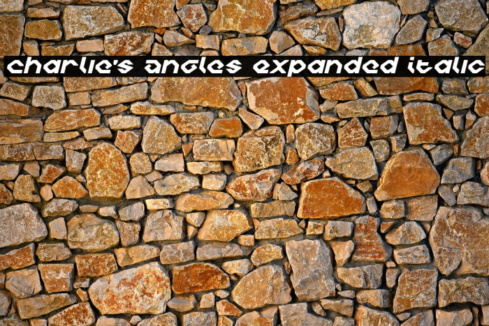 Charlie's Angles Expanded Italic Font examples