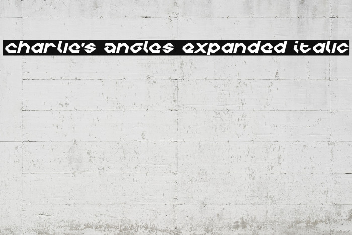 Charlie's Angles Expanded Italic Polices examples
