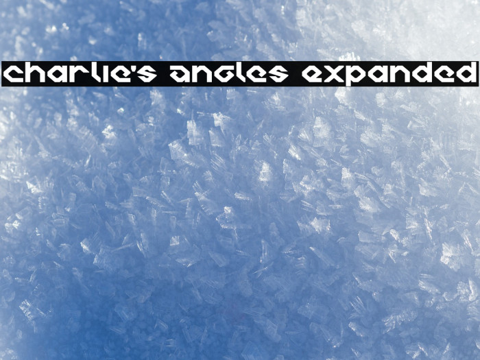 Charlie's Angles Expanded لخطوط تنزيل examples