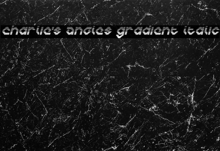 Charlie's Angles Gradient Italic Caratteri examples