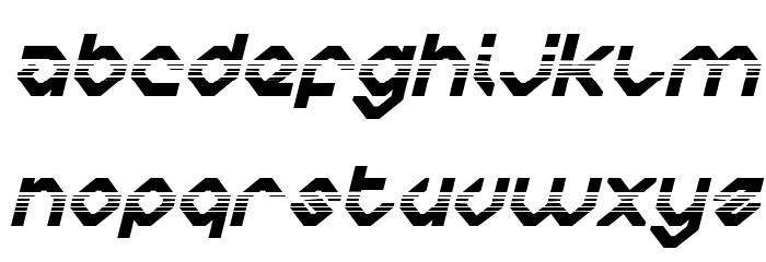 Charlie's Angles Halftone Italic Fonte MAIÚSCULAS