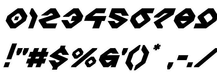 Charlie's Angles Super-Italic Fonte OUTROS PERSONAGENS