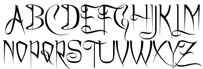 Charming Font फ़ॉन्ट अपरकेस