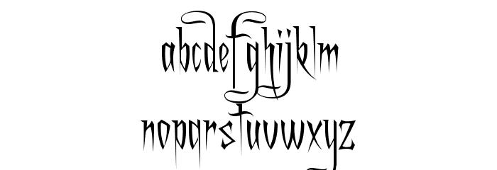 Charming Font फ़ॉन्ट लोअरकेस