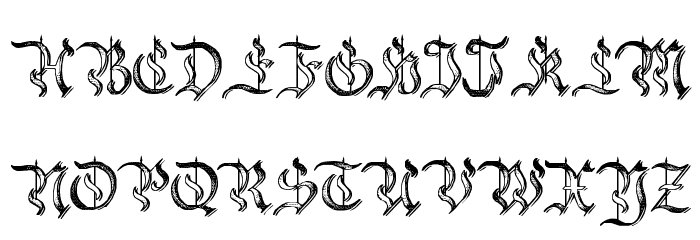 Charterwell No5 Font UPPERCASE