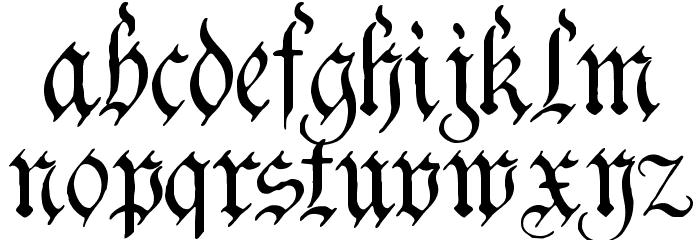 Charterwell Font LOWERCASE