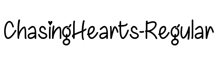 ChasingHearts-Regular  Free Fonts Download