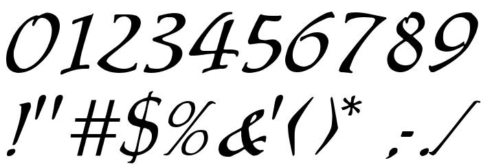 Chaucer Regular Font OTHER CHARS