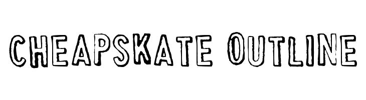 Cheapskate Outline  Скачать бесплатные шрифты