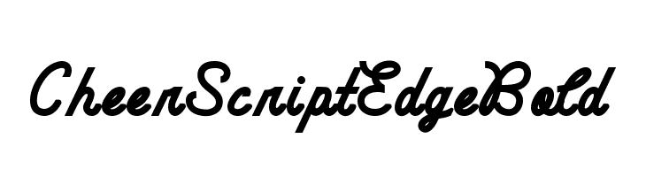 CheerScriptEdgeBold  Free Fonts Download