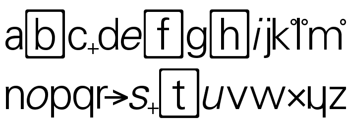 Chemistry Font LOWERCASE
