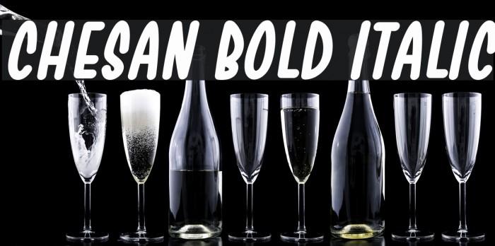 Chesan Bold Italic Font examples