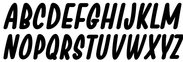 Chesan Bold Italic Font LOWERCASE