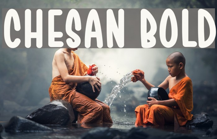 Chesan Bold Font examples