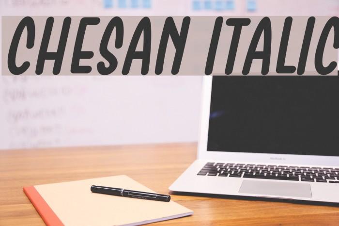 Chesan Italic Font examples