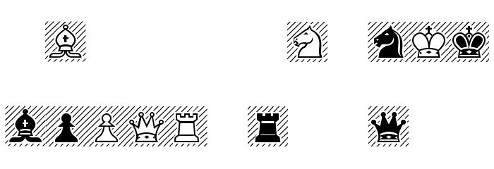 Chess-Alpha Font UPPERCASE